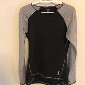 Women's Long sleeved grey/black  Reebok shirt